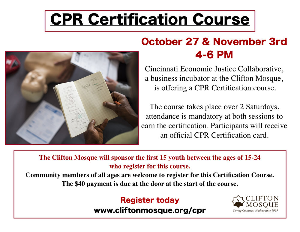 Cpr Certification Course Clifton Mosque