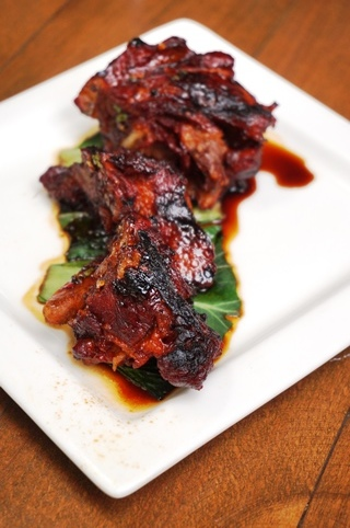 Grilled Pork Neck with a Spicy Lime Sauce