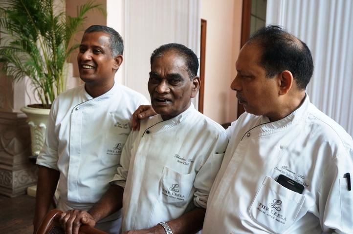 The team behind the food festival, from L-RChef Giri Manni,Chef Bhaskar Rao and Chef Farman Ali