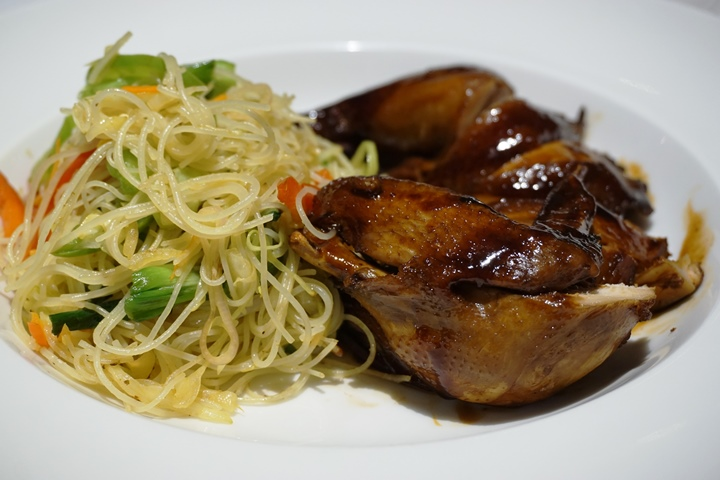 Soy Glazed Chicken with Singapore Noodles