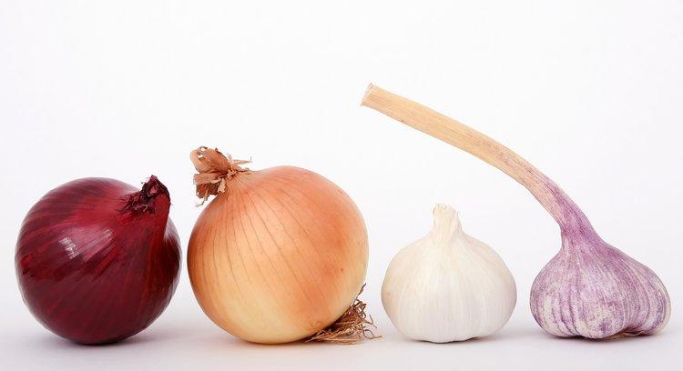 Red Onion, Yellow Onion, Garlic, Red Garlic