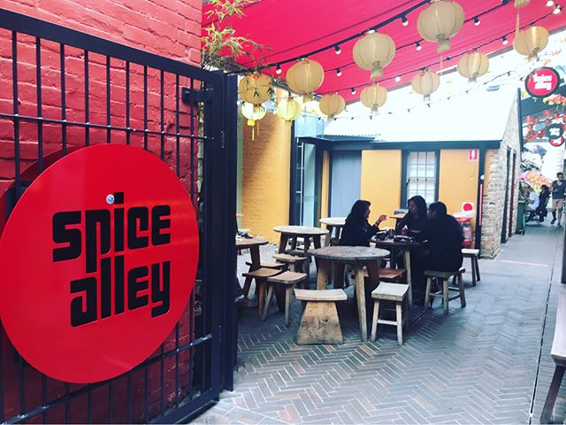 @spicealleysydney is a great little laneway in the middle of Chippendale and just around the corner from Brickfields studios! A perfect spot for a lunch or after work drinks/dinner with your colleagues! • • • • • #brickfieldsstudios #chippendale #sydney #coworking #studiolife #spicealley #asian #asianflavors