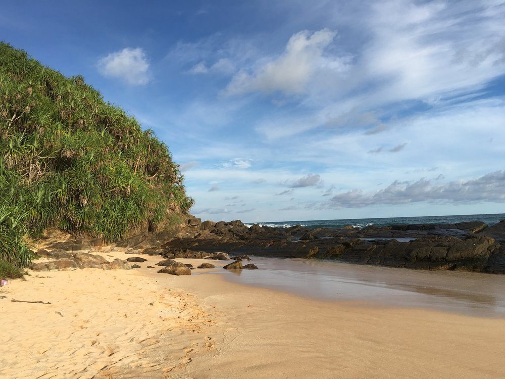 Just 5 minutes walk away is this secluded paradise with a natural rock pool to ease weary limbs and massage out unwanted tensions.