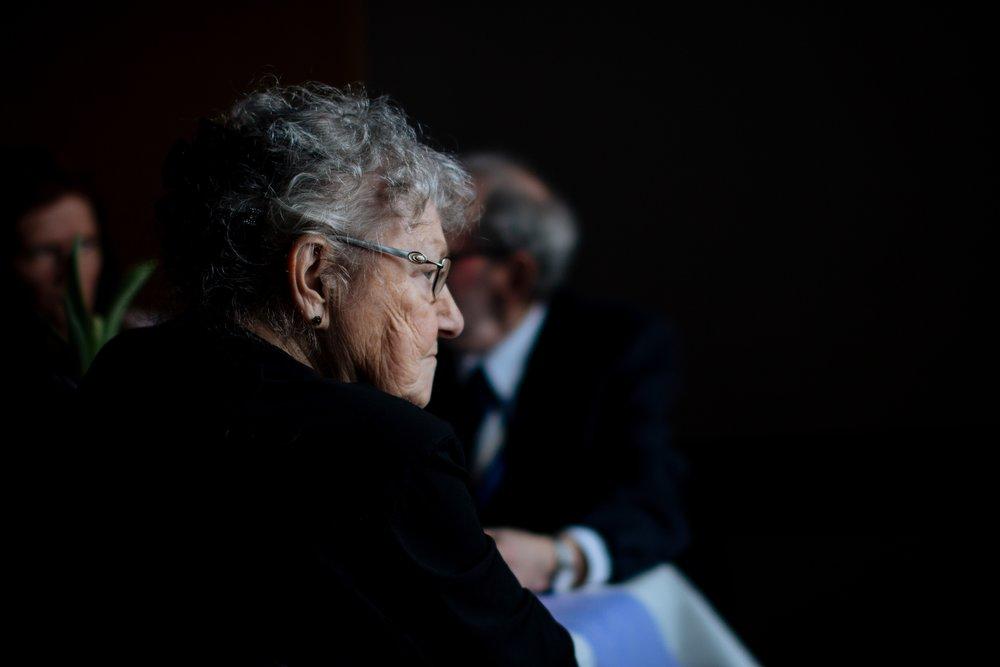 Elderly care home resident
