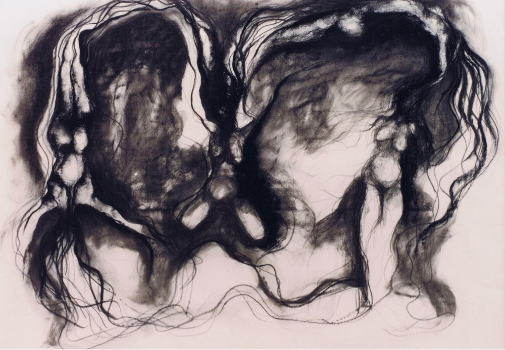 charcoal & pencil on paper