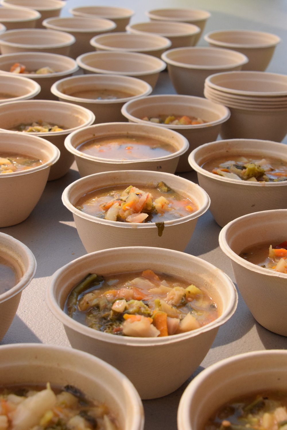 The Harvest Vegetable Stew on the day at Monument Square