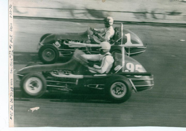 My grandfather, Dickie Deis, in the #1 chasing another BCRA win