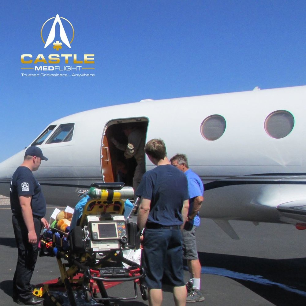 A critical care patient being loaded onto one of our airframes
