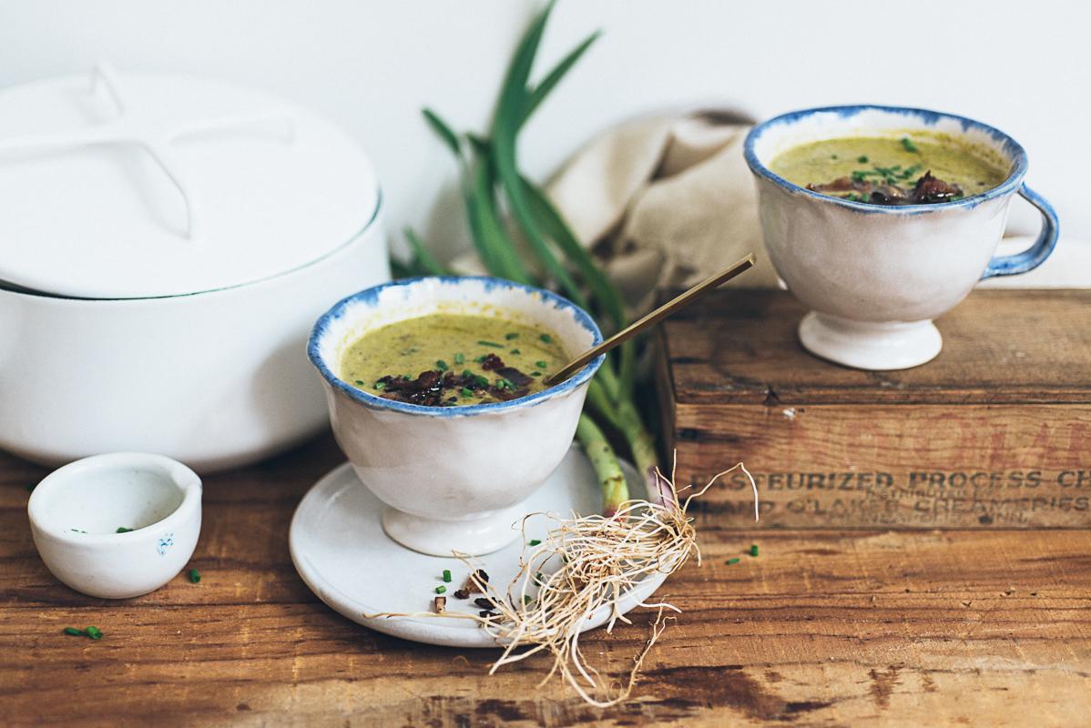 roasted broccoli and asparagus soup (AIP/Paleo) » itsmecharlotte.com