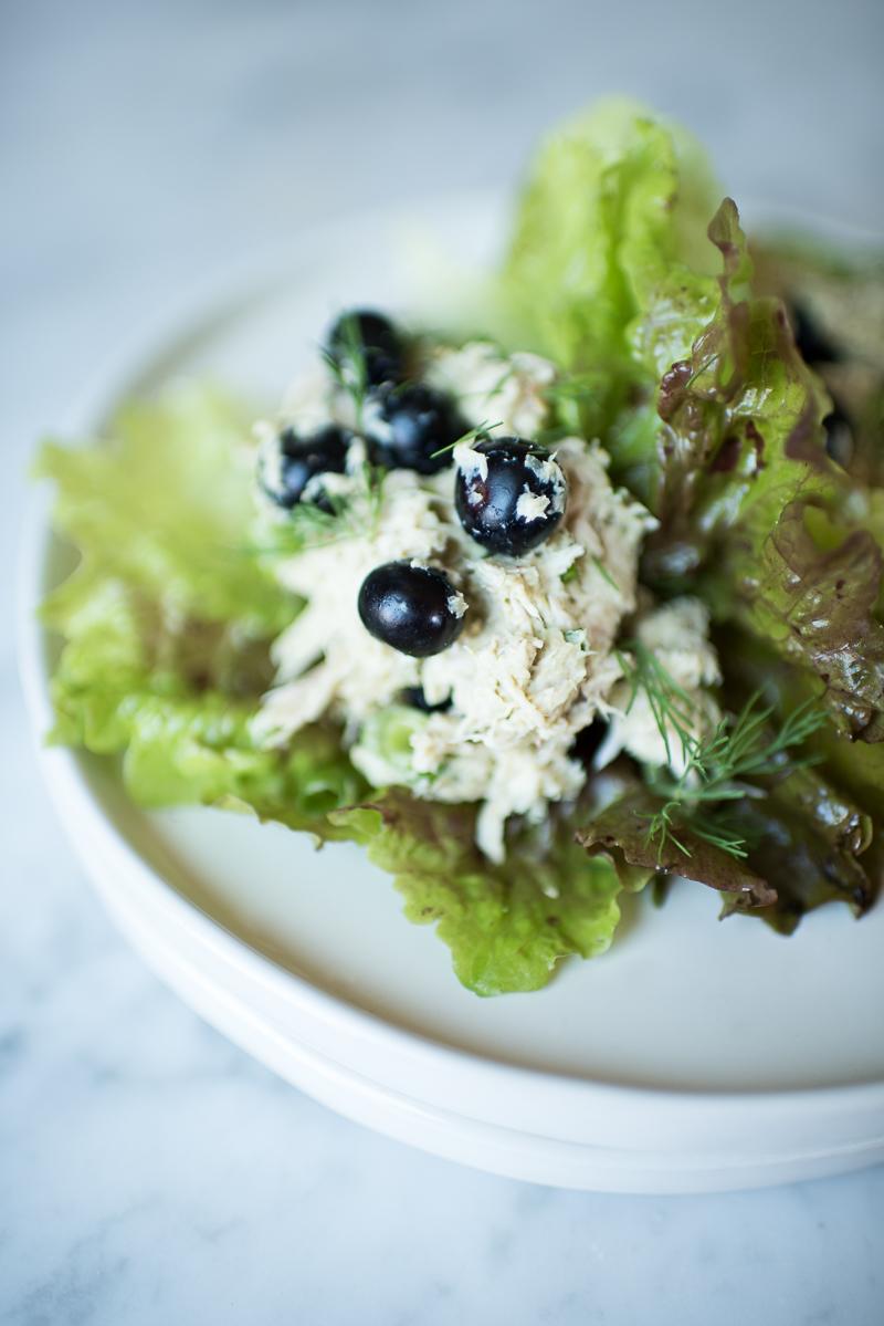 blueberry chicken salad wraps (aip/paleo)