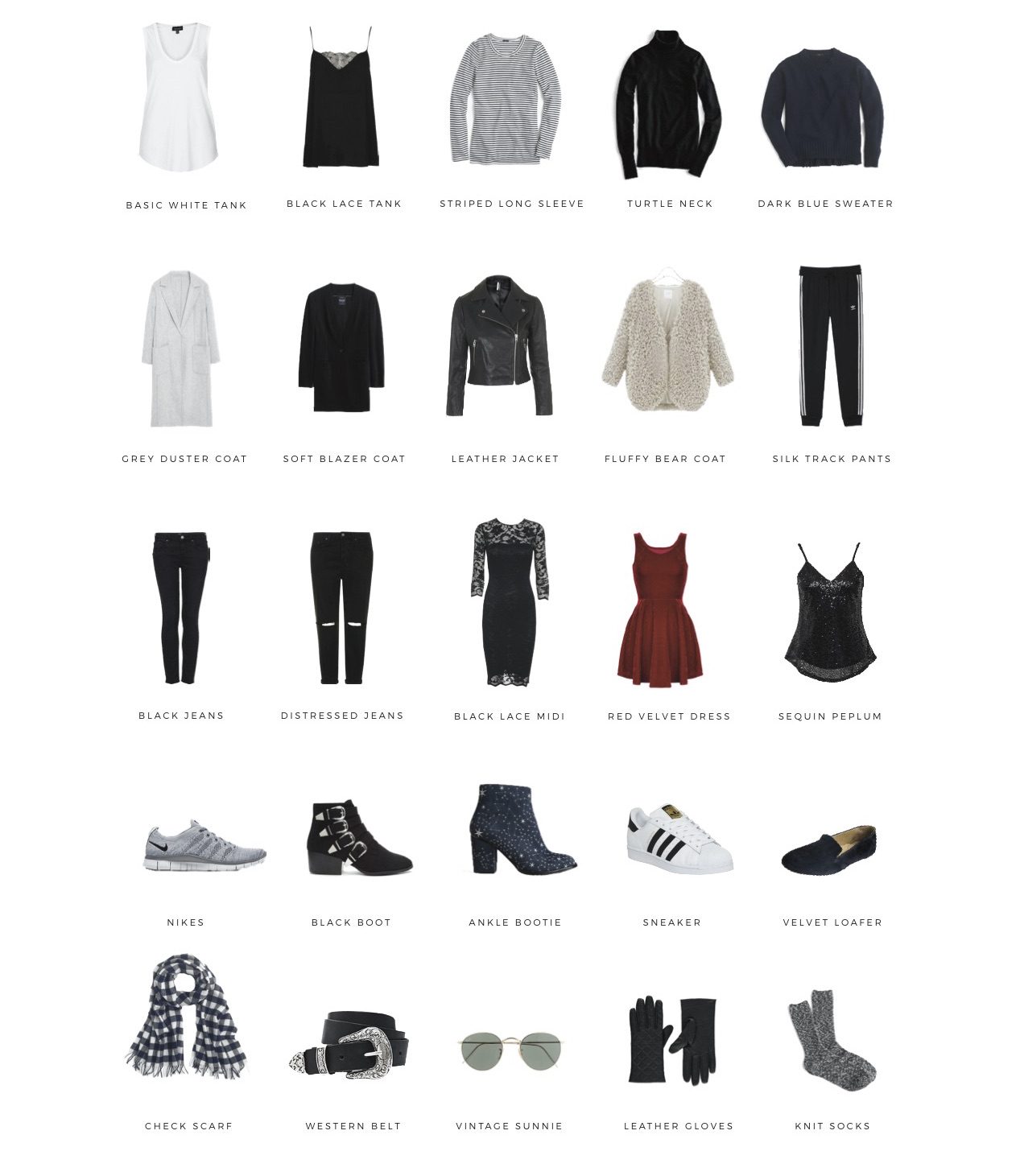 winter travel capsule wardrobe