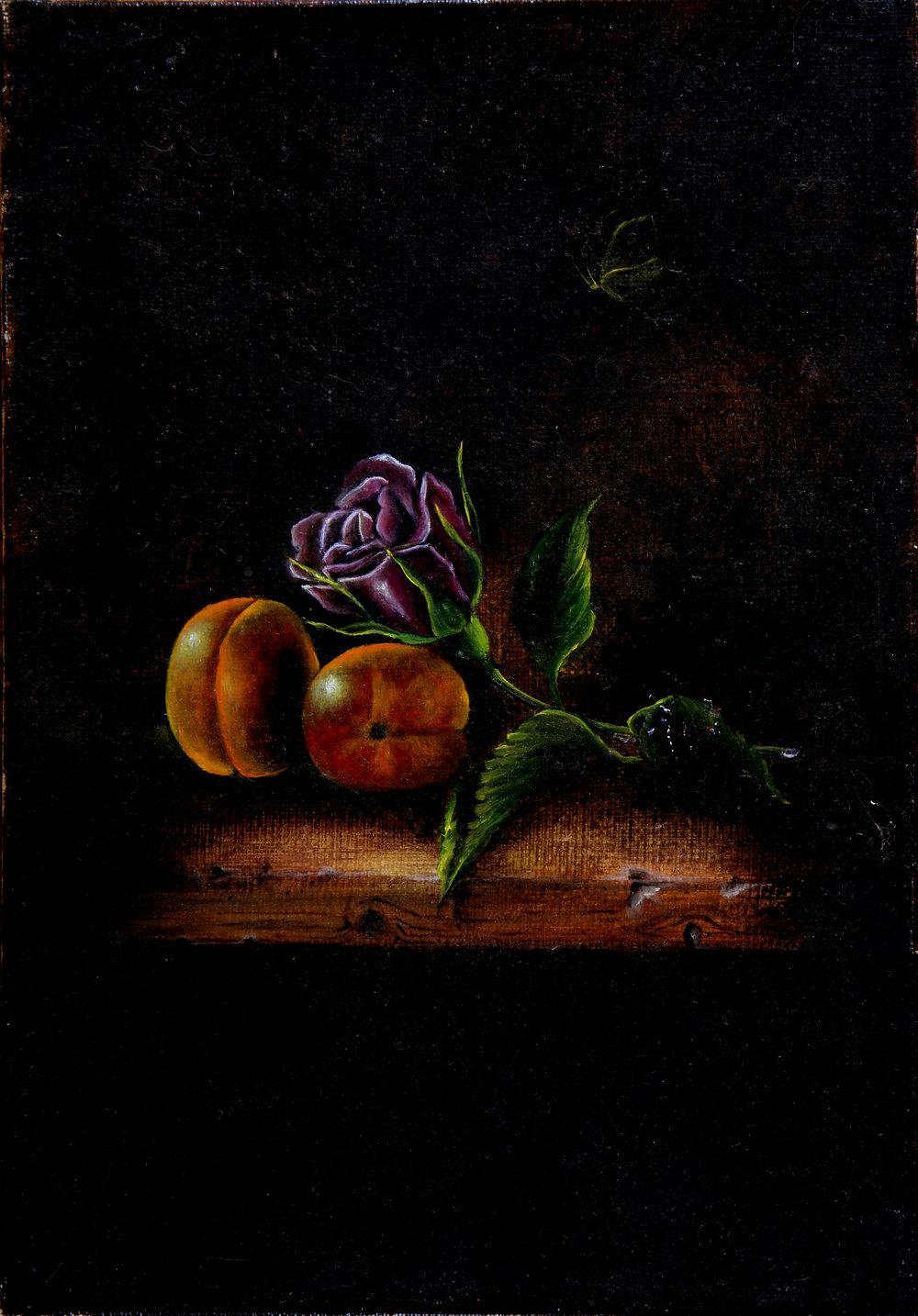 NATURE MORTE AUX ABRICOTS (27x19) Création