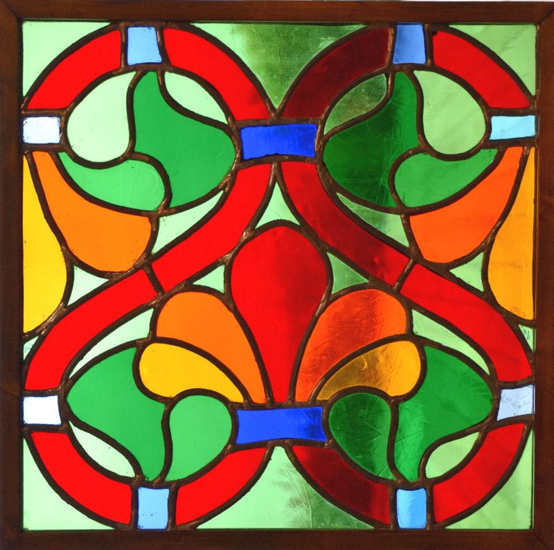 ABBAYE DE BONLIEU (48x48) Vitrail au plomb (Travaux d'atelier/Chartres)