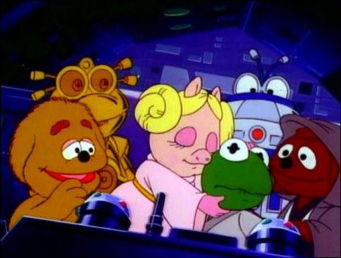 The Muppet Babies spoof STAR WARS