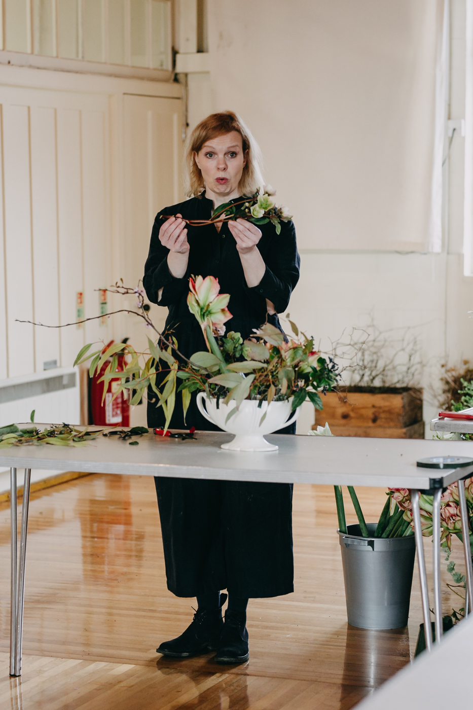 I'm clearly very excited about this hellebore!  Photo by Eva Nemeth