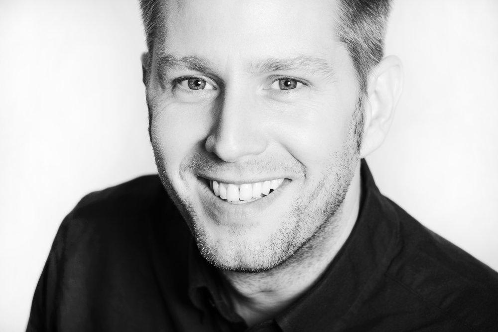 Schwarz-Weiß-Porträt Björn Klaus