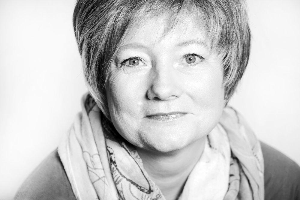Schwarz-Weiß-Porträt Sylvia Gorsler