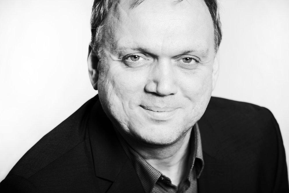 Schwarz-Weiß-Porträt Marcus Lufen