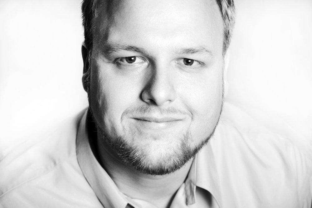 Schwarz-Weiß-Porträt Stefan Pieplau
