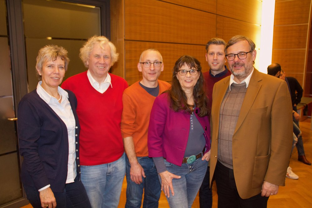 Der neue Vorstand der SPD-Fraktion im Bielefelder Stadtrat (v.l.): Brigitte Biermann, Holm Sternbacher, Ulrich Gödde, Regine Weißenfeld, Björn Klaus und Georg Fortmeier.