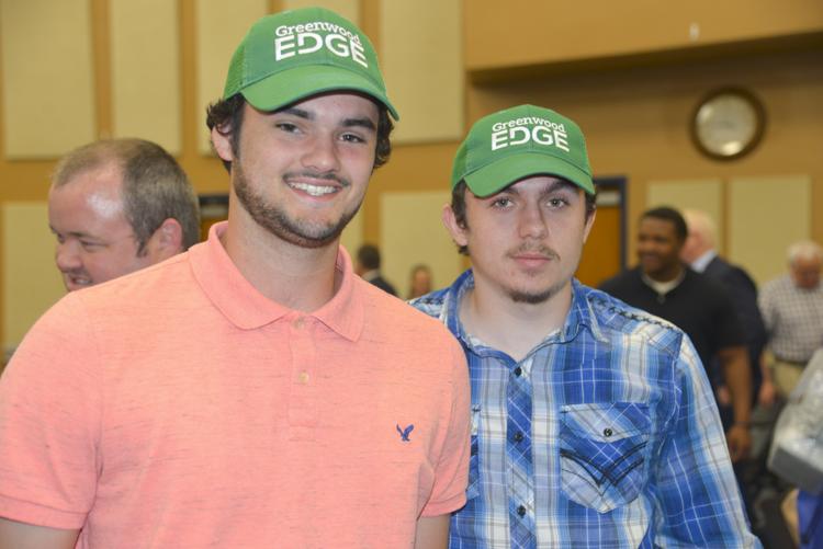 GW EDGE Keaton Weaver (L) and Timothy Johnson, Ware Shoals HS.JPG