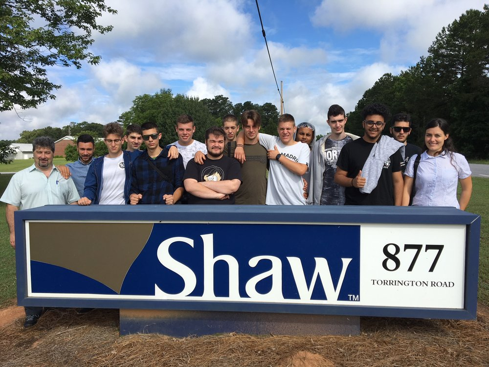 Italian Grp at Shaw Industries.JPG