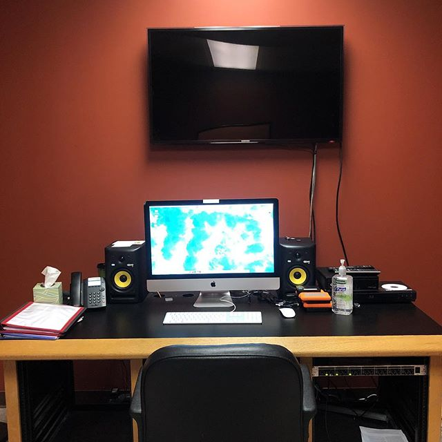 Editing spaces are always neat!  #editing #filmmaking #workplace