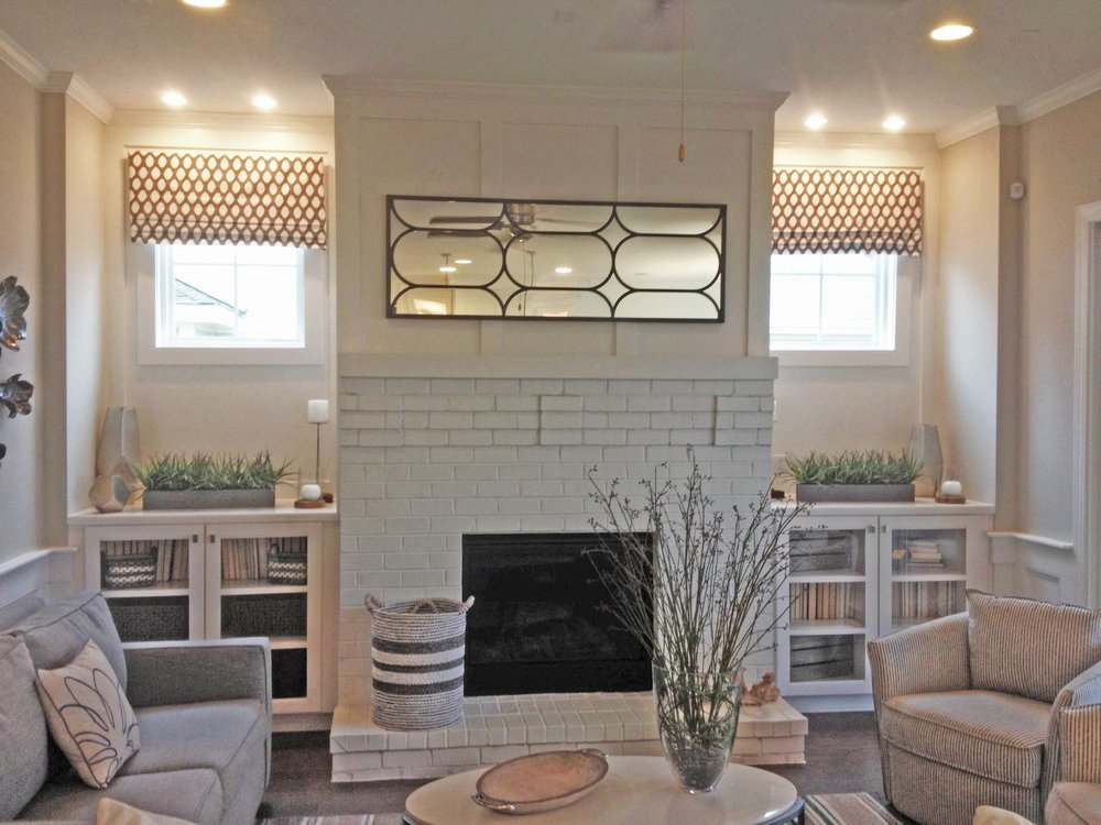 Custom Fireplace Built-In