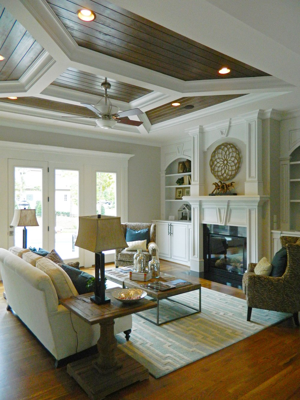 Coffered & Tongue and Groove Ceiling