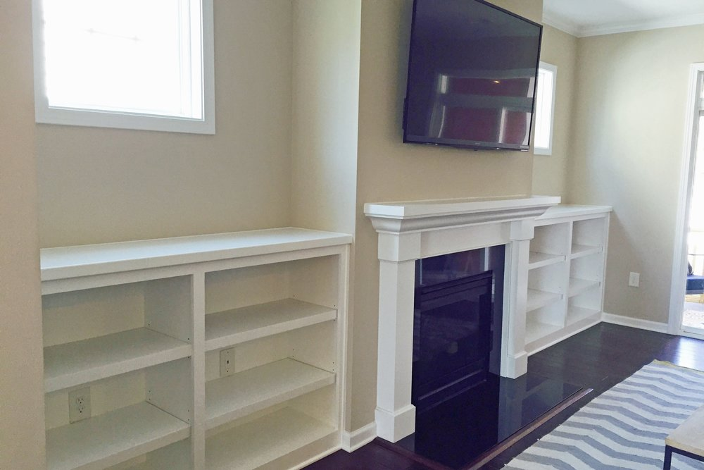Custom Fireplace Built Ins Wake Forest Raleigh Durham