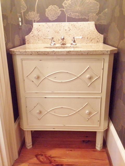 custom designer vanity with legs