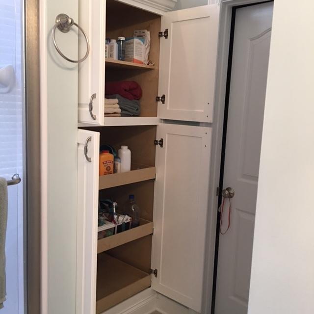 linen closet open