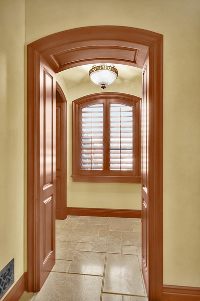 Stain Grade Raised Panel Barrel Arch