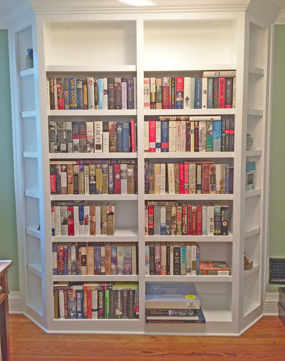 Custom Bookcase with Crown Detail