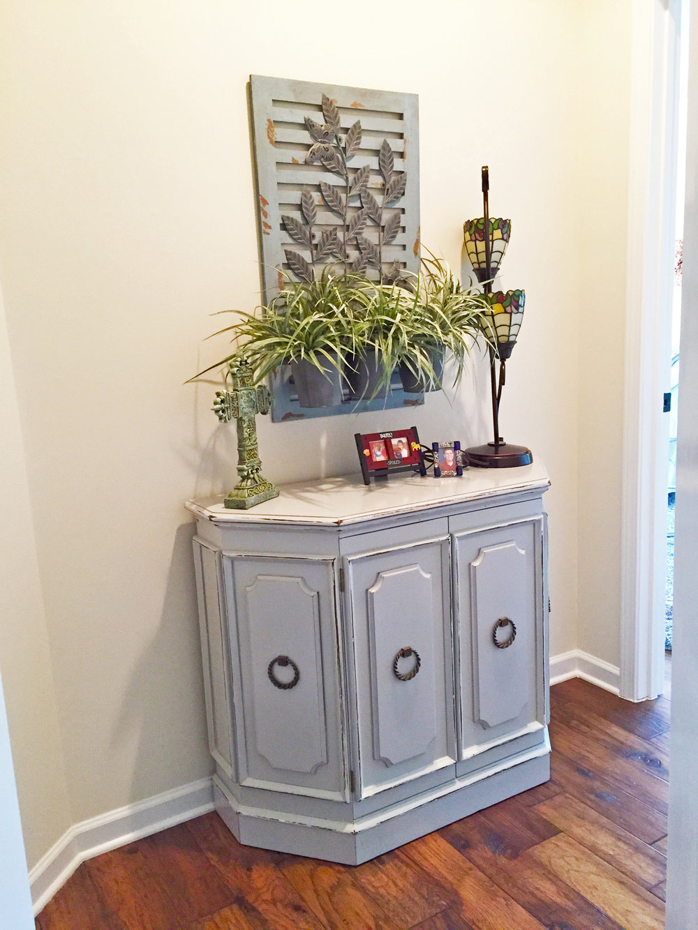 Distressed Entryway Credenza