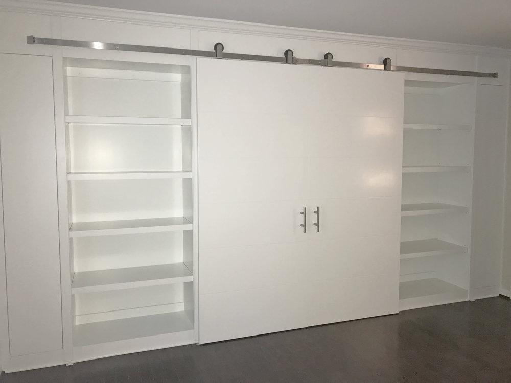 Sliding Doors & Bookcase