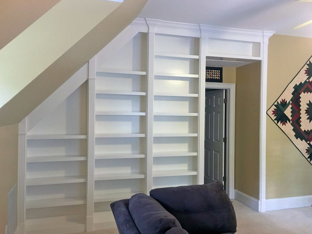 Bookcase with Column & Fluting Detail
