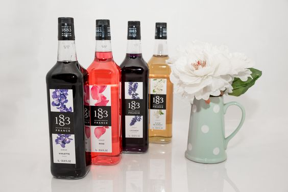 1883 Masion Routin  offers Rose, Lavender, Orchid and Elderflower syrups to bring a flowery accent to beverages and more.