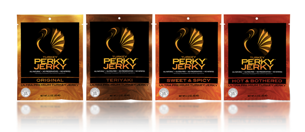 Perky Jerky  offers a new high-quality beef jerky product that's made from 100% grass fed and antibiotic-free beef, with a Step 4 animal welfare certification by Global Animal Partnership (GAP).