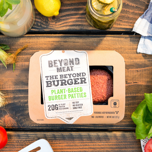"The Beyond Burger, from  Beyond Meat ,  is the ""plant-based"" burger, which uses beet juice to ""bleed."""