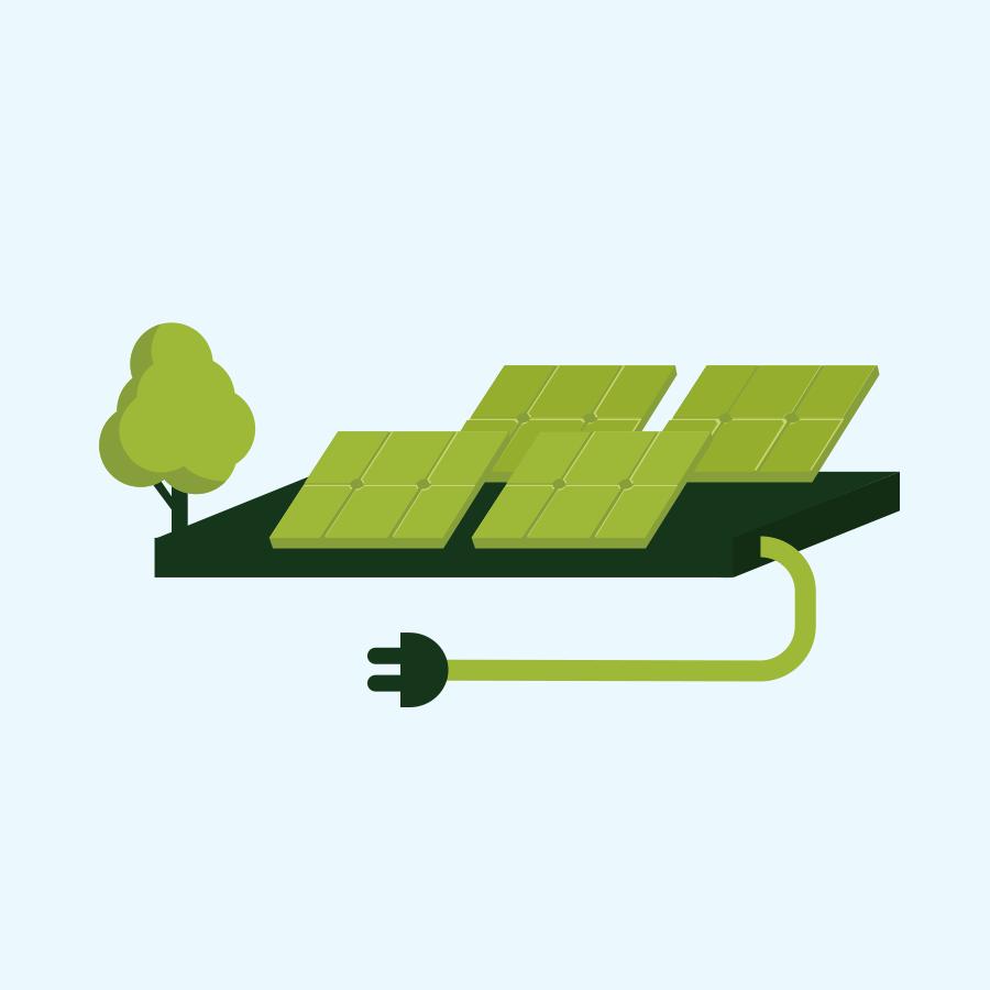 zonnepark levert energie direct aan het energienet
