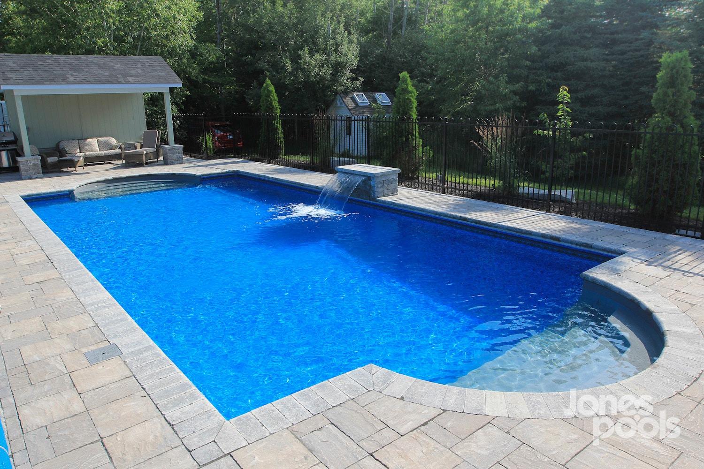 Deep Backyard Pool deep blue - premier — megna pools