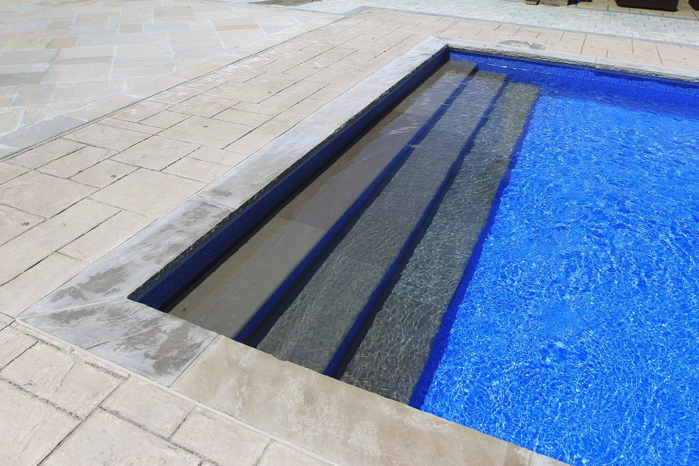 Blue Beach Pebble (30ga) with stone step inserts