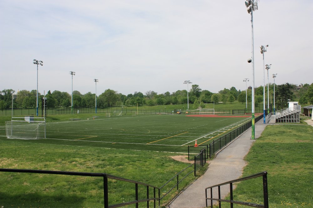 Youth Sports and Education Center   In 1970, a new football field was built in Patterson Park and dedicated as Utz Field after Utz Twardowicz, Director of the Highlandtown Red Shield Boys Club from 1948 to 1969.  The Patterson Park Youth Sports and Education Center includes a new, multi-purpose, turf field located on Utz Field and includes an educational building that houses classrooms for activities and programming year-round. Programming includes academic support, physical education and activity, nutrition education, provision of healthy snacks, and anti-gang and drug prevention workshops.  Contact  pattersonparkinfo@gmail.com  or call  410.878.0563  for more for more information about ongoing programs.