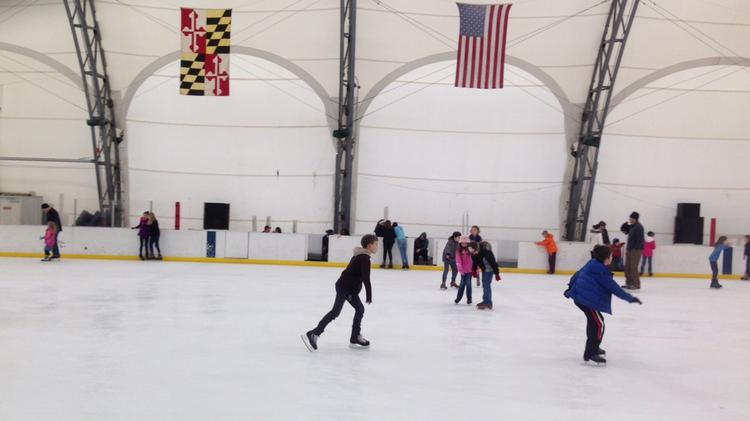 "The Pagoda Dominic ""Mimi"" DiPietro Family Skating Center, located at 200 S. Linwood Avenue, is a popular center of activity for cold weather activities. The rink features public ice skating sessions, ice hockey, broomball, and sled hockey from October until March 30, 2017. The rink also hosts many of Baltimore's hockey teams, as well as seasonal special events. The Dominic ""Mimi"" DiPietro Family Ice Skating Rink was originally built in 1967 and is named after the late, longtime East Baltimore City Councilman. In 1986 the rink was enclosed with a tension structure and the changing/warming house was expanded. The rink is full-sized measuring 200 by 85 feet and is equipped with a warm-up room, fireplace, concession stand and skate shop, which makes this facility the perfect venue for private parties and group rentals. The ice rink is closed for the season, but will reopen in October 2017.  General Admission $5.00 Season Pass (10 sessions) $40.00 Skate Rental $3.00 Group Rates & Birthday Parties Available Ice Rental $180 per hour Lobby Only $50 per hour For more information, contact the rink directly at 410-396-9392."