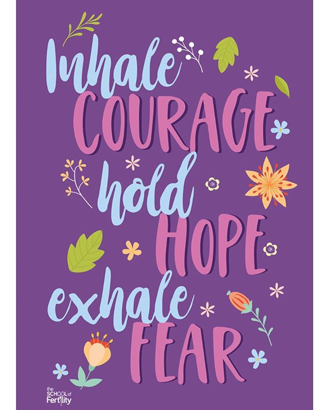 If you're feeling anxious, stressed or worried, use this A4 PDF print as a reminder to practice your 4-7-8 breath. Inhale courage for four counts. Hold hope for seven counts. Exhale fear for eight counts. Repeat a few times to turn off the stress response in your body and calm your system down. Download your free print under the mindset tab (link in bio). #breath #breathingexercises #fertility #fertilitysupport #fertilityjourney #ivf #ivfjourney #unexplainedinfertility #infertility #infertilitysucks #infertilityawareness #infertilitysupport #ttc #ttccommunity #ttcjourney #ttcaftermiscarriage #ttcsisters #ttcsupport #ttctribe #healthymindset #healthymindandbody #letstalkfertility #ttcpcos #wellness #wellbeing