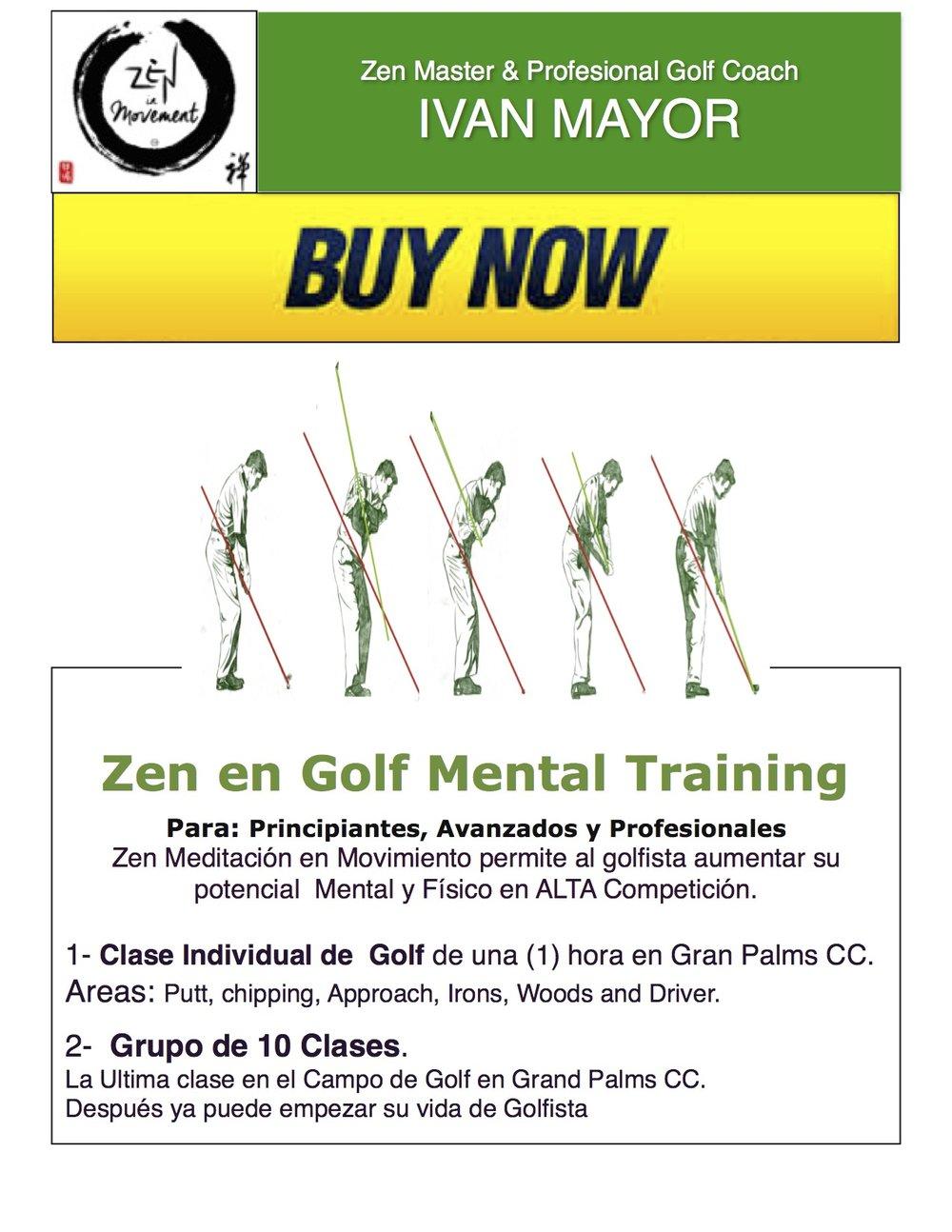 Clase Individual y Grupo de 10 clases... Después a jugar Golf