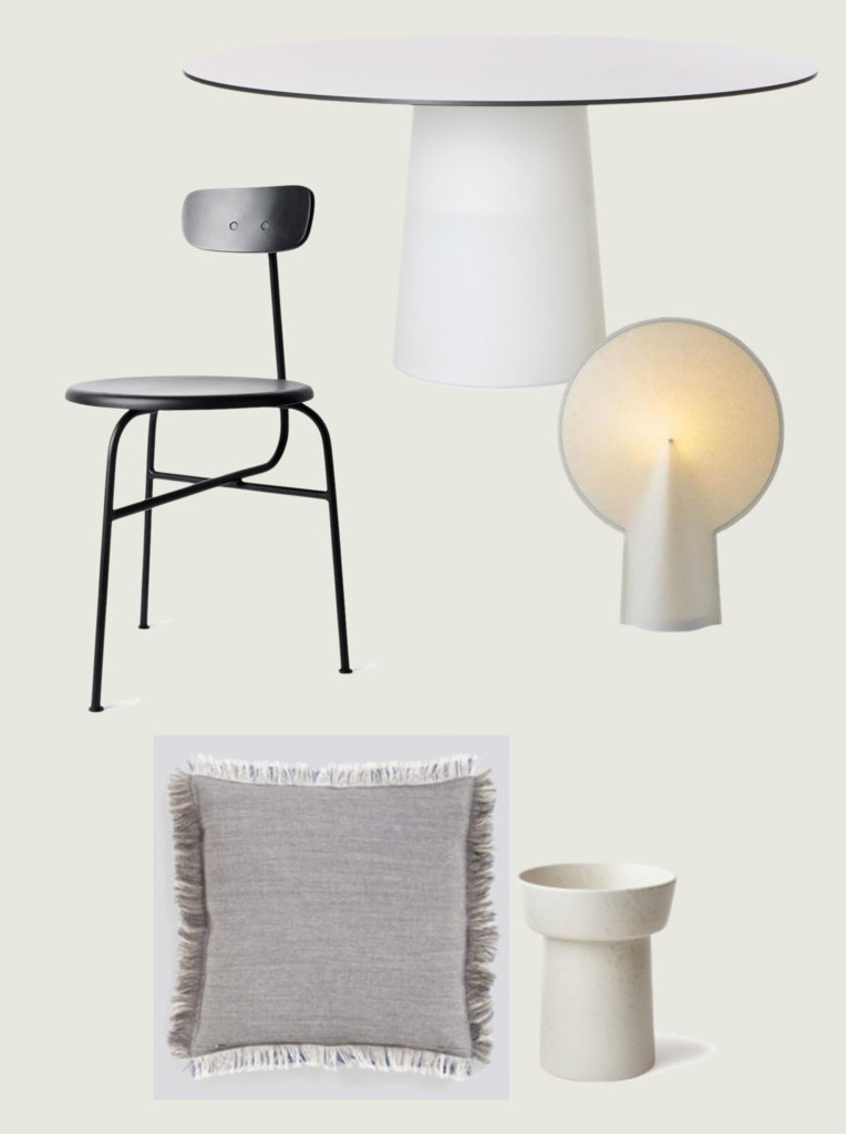 moooi container table 7056 / menu afteroom chair / HAY, Wrong for Hay Pion Lamp / HAY Fray Kvadratisk / kähler ombria vase