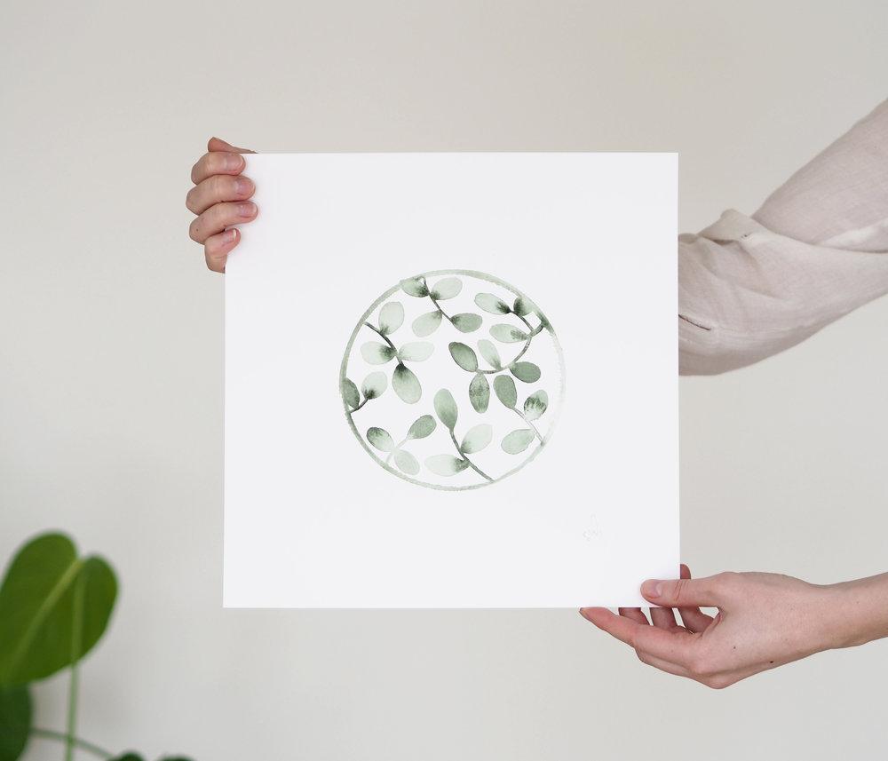 Greenhouse art prints by Silke Bonde