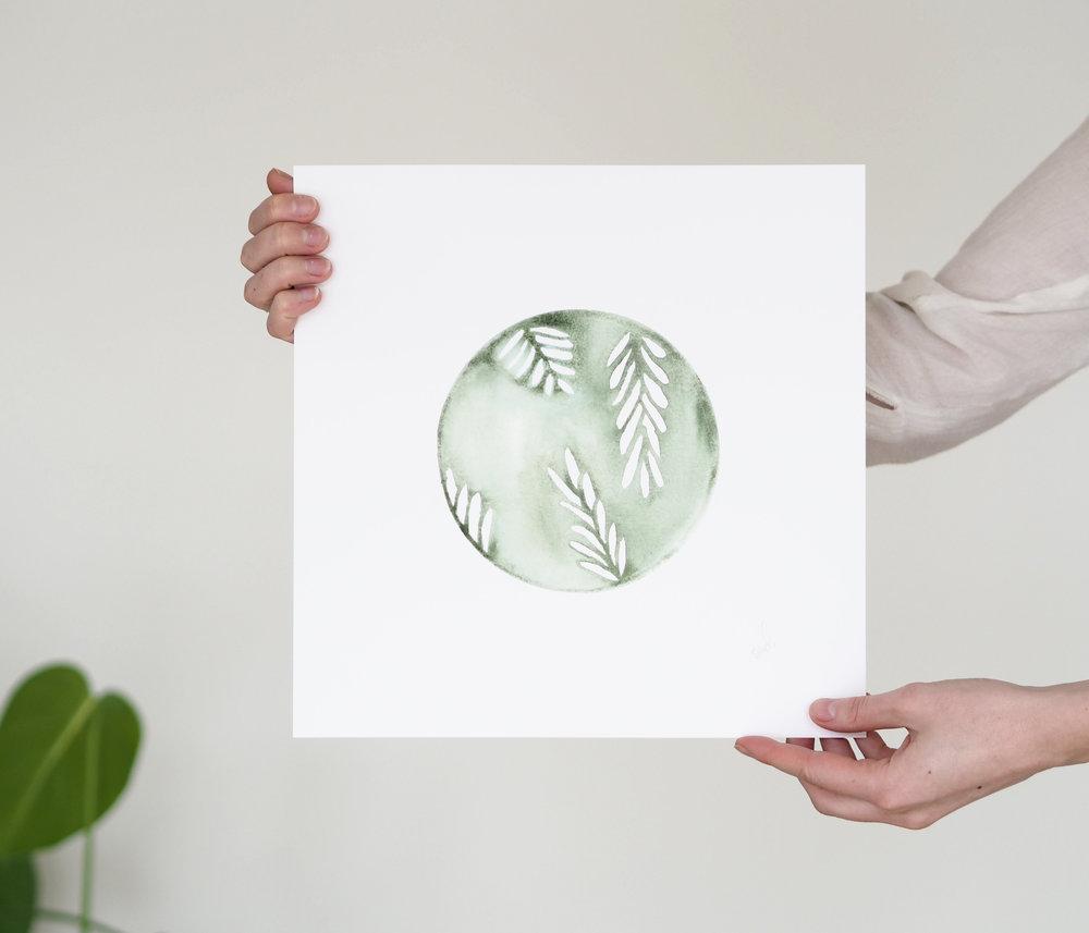 Greenhouse art print by Silke Bonde